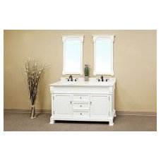 Bellaterra Home Olivia Traditional Double Bathroom Vanity 205060-D-WHITE All Bat