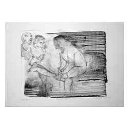 Happy Hour, Limited Edition, Hand Printed Work - Three figures