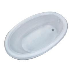 Arista - Belle 44 x 78 Oval Soaking Drop-In Bathtub - Soaker Tub with Center Drain - DESCRIPTION