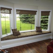 Contemporary Windows by Karen's Custom  Decorating