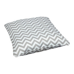 None - Chevron Grey Corded Outdoor/ Indoor Large 28-inch Floor Pillow - We are bringing the outdoor durability into inside everyday use with this large zig zag pattern floor pillow and adding exceptional comfort,dramatic style to your patio or any room in your home,from your living room,game room,to bed room.