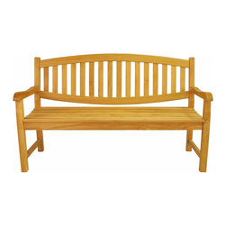 Anderson Teak - Kingston 3-Seater Bench - This simple traditional curved back style-dining armchair will never go out of style, but quietly blends with any other design. The seat is very sturdy as well as the back. Place this armchair in your backyard with the dining table, will amazed your family or friends. It is the matching set for our famous Kingston 3-Seater Bench (BH-005O). Cushion is optional and is being made by order.