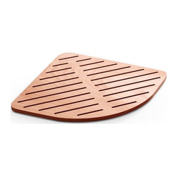 WS Bath Collections - Atlantica Shower Mat in Marine Plywood - Atlantica 7231 Shower Mats, Shower Mats Marine Plywood, Made in Italy