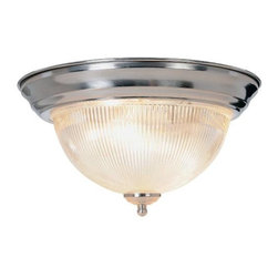 AF LIGHTING - Halophane Dome Ceiling Fixture, Brushed Nickel - This halophane dome ceiling fixture features the timeless allure of clear swirled glass with the modern appeal of brushed nickel accents.