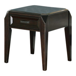 Steve Silver - Wellington End Table - The Wellington End table conveys a sophisticated look that is sure to catch your eye. With distinctive features and a rich cherry finish this end table is an excellent addition to any room.