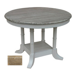 Tradewinds - Island Breakfast Table, Riverwash - Having breakfast was never so fun, with Island Breakfast table at your home happiness is sure to spread around along with quality family time. This table can be used for many purposes viz., it can be also used as a center table with a flower vase on it or a little bowl with a silver fish inside it. Made from plantation grown and kiln-dried mahogany and mindi as well as premium hardwood veneers, this table is one durable product that lasts lifelong. Discuss business with your boss over a cup of tea when he pays a visit in style.