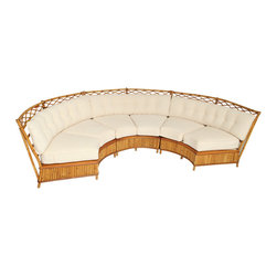 Ficks Reed Curved Sofa - I love the idea of creating an outdoor room. This curved sofa would turn any patio into the ultimate of outdoor spaces!