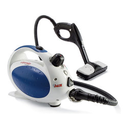 Frontgate - Vaporetto Deluxe Portable Steam Cleaner - The stainless steel boiler has a 25 oz. capacity and is scale- and corrosion-resistant. Shoulder belt for easy transport. Child-proof lock. Includes 18-piece accessory kit. 20 ft. cord, 120V. Easy to use, lightweight, and portable, this 1,500-watt Vaporetto Deluxe Portable Steam Cleaner includes a host of attachments for cleaning and sanitizing virtually every surface without the use of harsh chemicals. Using regular tap water, it produces steam in excess of 275 degreesF inside the boiler with the proven capability of completely killing common household germs, allergens, and dust mites. . . .  .  . Made in China.