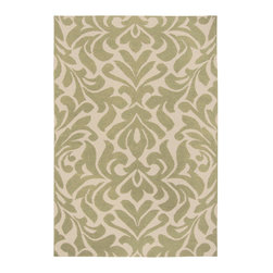 Surya - Surya Candice Olsen Market Place Floral Khaki Green Hand Woven Wool Rug - A damask-inspired floral spans the Surya Market Place area rug, showcasing designer Candice Olsen's flair for blending modern and classic aesthetics. With its elegant motif, this patterned floor covering makes a chic impression in any room. 100% hand woven wool. Khaki green and parchment. Available in several sizes. Rug pad recommended.