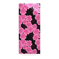 """Kess InHouse - Julia Grifol """"Pink on Black"""" Metal Luxe Panel (9"""" x 21"""") - Our luxe KESS InHouse art panels are the perfect addition to your super fab living room, dining room, bedroom or bathroom. Heck, we have customers that have them in their sunrooms. These items are the art equivalent to flat screens. They offer a bright splash of color in a sleek and elegant way. They are available in square and rectangle sizes. Comes with a shadow mount for an even sleeker finish. By infusing the dyes of the artwork directly onto specially coated metal panels, the artwork is extremely durable and will showcase the exceptional detail. Use them together to make large art installations or showcase them individually. Our KESS InHouse Art Panels will jump off your walls. We can't wait to see what our interior design savvy clients will come up with next."""