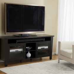 Jesper Office - Jesper Office 70-inch Modern TV Cabinet - This impressive TV stand features two door cabinets with room for high tech equipment. The shelves and back panel have ventilation slots while the sound bar shelf ensures ample room for your sound bar.