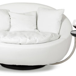 Alba Modern White Round Liesure Chair - Color: White