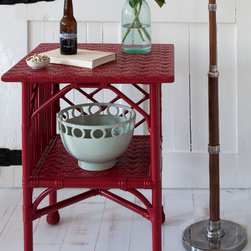 Grace Side Table - The Grace Side Table is a wicker piece that truly stands alone. The lines are unmistakable, yet unassuming. It is a statement table that will turn heads and spice up any space. Choose from over 50 signature Maine Cottage® colors.