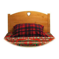 Little Colorado - Traditional Twin Headboard - Heart Cutout - 89TH-HO - Shop for Headboards and Footboards from Hayneedle.com! The next move when a child outgrows our toddler bed is a twin bed. Our traditional twin headboard easily attaches to a standard metal bed frame with the bolts we provide. Also available with a star cutout and without a cutout in the headboard. Available in natural lacquer pickled white honey oak solid white linen soft pink powder blue light green lavender and unfinished.Little Colorado is a Green CompanyAll finishes are water-based low-VOC made by Sherwin Williams and other American manufacturers. Wood raw materials come from environmentally responsible suppliers. MDF used is manufactured by Plum Creek and is certified green CARB-compliant and low-formaldehyde. All packing insulation is 100% post-consumer recycled. All shipping cartons are either 100% post-consumer recycled or are made of recycled cardboard.About Little ColoradoThis item is made by Little Colorado. Begun in 1987 Little Colorado Inc creates solid wood hand-crafted children's furniture. It's a family-owned business that takes pride in building products that are classic stylish and an excellent value. All Little Colorado products are proudly made in the U.S.A. with lead-free paints and materials. With a look that's very expensive but a price that is not Little Colorado products bring quality and affordability to your little one's room.