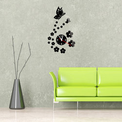 Butterfly Wall Clock - Package Include: