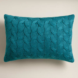 Legion Blue Hand-Knit Lumbar Pillow - I love this blue. I'm using blue in my winter decor this year, so this pillow would be perfect.