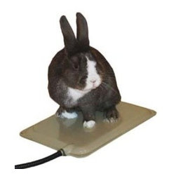 K & H - Small Animal Heated Pad - Small Animal Heated Pad. Only 25 watts is all that's needed to keep the indoor or outdoor pet warm and comfy even in the coldest of climates. The 9 x 12 size is perfect for Rabbits, guinea pigs or ferrets and is ideal for the re-habilitation of wildlife.