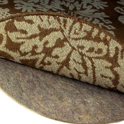 """Rug Pad Corner - Superior 3/8"""" Thick Round Felt Rug Pad, 7x7 - Guaranteed 100% Natural containing only recycled pre-consumer fibers"""