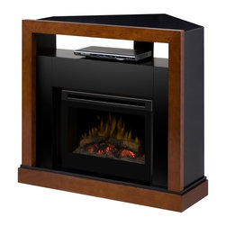 Dimplex - Dimplex Tanner Convertible Electric Fireplace Media Console Multicolor - GDS25-5 - Shop for Fire Places Wood Stoves and Hardware from Hayneedle.com! Add comfort and elegance to any space with this compact Dimplex Tanner Convertible Electric Fireplace Media Console. This remote-operated electric fireplace has a glass front which stay cool to the touch. It runs with or without heat for year round enjoyment and its classic walnut finish fits many different styles. About DimplexDimplex North America Limited is the world leader in electric heating offering a wide range of residential commercial and industrial products. The company's commitment to innovation has fostered outstanding product development and design excellence. Recent innovations include the patented electric flame technology - the company made history in the fireplace industry when it developed and produced the first electric fireplace with a truly realistic wood burning flame effect in 1995. The company has since been granted 87 patents covering various areas of electric flame technology and 37 more are pending. Dimplex is a green choice because its products do not produce carbon monoxide or emissions.