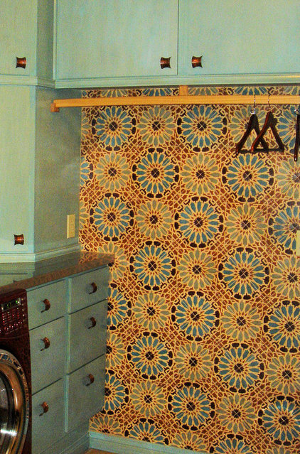 Mediterranean Laundry Room by Filmore Clark