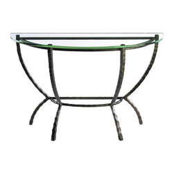 Hudson Demi Lune Console by Charleston Forge - Dimensions: