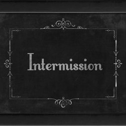 The Artwork Factory - Silent Movie Intermission Framed Artwork - Ready-to-Hang, 100% Made in the USA, museum quality framed artwork