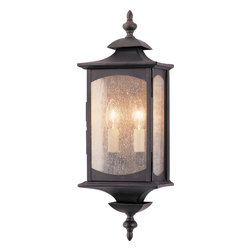 "Murray Feiss - Murray Feiss OL2601ORB Market Square Transitional Outdoor Wall Sconce - Imagine a time long ago -  a simpler time - when porches were lit by the soft glow of lanterns. A time when ""gated community"" meant keeping the cows from roaming in your neighbor's garden, and you never had to worry about double parking your carriage. Greet visitors to your home with a statement of distinction with the classic lines and solid brass construction of the Market Square Collection."