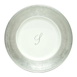 ChargeIt! By Jay - ChargeIt! by Jay 13-inch Silver Monogram Chargers (Pack of 8) - This eight piece sparkling silver chargers by Jay will add style and sophistication to your formal dining place settings. Enjoy a hearty meal at your parties with this beautiful set that is specially designed to go with your dinner plates.