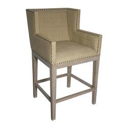 NOIR - NOIR Furniture - Zuri Barstool in Weathered Grey - GSTOOL211WEAL - Features: