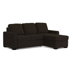 Lifestyle Solutions - Serta Chester Sectional - Easily converts from sofa to bed position in seconds. Easy converts from sofa to lounger to bed. Queen Size Sleeper . Hidden storage unit underneath chaise. Chaise can be placed on right or left side. Pocket Inner Coil Springs. Durable construction. Clean with damp cloth. Sofa: 88.9 in. L x 36.5 in. W x 39 in. H (268 lbs). Bed: 88.9 in. L x 65 in. W x 19 in. H (268 lbs)Serta Dream Convertibles - a collection of stylish convertibles that turn from Sofa by Day to a Dream Sleeper at Night. From individual encased coils to quilted memory foam to ensure comfort.