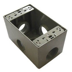 "Westgate - Westgate One Gang Box, 5 x 3/4"" Hubs - One gang box - 2-5/8"" Deep"