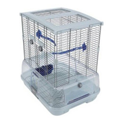 Vision - Vision Bird Cage for Small Birds Multicolor - 83200 - Shop for Bird Cages and Stands from Hayneedle.com! The Vision Bird Cage for Small Birds is perfect for your budgie canary lovebird or finch. It provides plenty of room for them to fly about as well as various perches to rest on. The perches have multiple grips and promote circulation while preventing foot problems. The enclosed base makes cleanup a breeze minimizing seed and waste spillover.