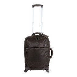 """Lipault - Lipault 22"""" Trolley - Ingenious luggage collapses to easily store away in minimal space. In water-resistant 420 denier nylon twill. Select color when ordering. 22"""" four-wheel trolley with telescopic handle and combination lock luggage tag, 14""""W x 9""""D x 22""""T. 25"""" four-w..."""