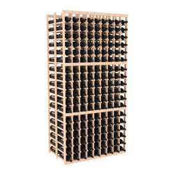 Wine Racks America - 9 Column Double Deep Cellar in Ponderosa Pine, (Unstained) - This beautiful and highly efficient 9 column wine rack kit only takes about 3 feet of wall space but holds 36 bottles per column. That is a total of 324 bottles (or 27 cases) in one rack! Double deep storage is ideal for restaurants, bars and private collectors as we stand behind our products and their quality. Those are guarantees.