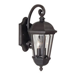 Exteriors - Exteriors Britannia Traditional Outdoor Wall Sconce - Medium X-29-4103Z - Unique cast construction adds some sleek sparkle with the Britannia Traditional Outdoor Wall Sconce - Medium. The oiled bronze finish and elegant lantern styling featuring bold lines makes this rendition suitable for your porch, main gate, or patio. The clear beveled glass provides a bright and friendly glow.