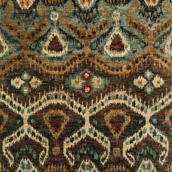 "Loloi Rugs - Loloi Rugs Xavier Collection - Taupe / Aqua, 9'-6"" x 13'-6"" - The sumptuous Xavier Collection is distinguished by its plush feel and bright, bold color palette. Hand knotted with 100% jute from India, Xavier's large scale Ikat design offers sophistication that works as an incredible centerpiece for a variety of room settings."