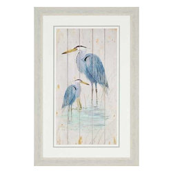 Paragon Art - Paragon Blue Heron Duo - Artwork - Blue Heron Duo ,  Paragon Artist is Fisk , Paragon has some of the finest designers in the home accessory industry. From industry veterans with an intimate knowledge of design, to new talent with an eye for the cutting edge, Paragon is poised to elevate wall decor to a new level of style.
