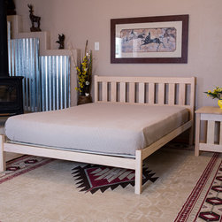 Mission Queen Wood Platform Bed - The Mission Queen Platform Bed by Nomad Furniture. Shown here in maple with an oil finish. Optional nightstand also available. Photo Credit: Dave Cady