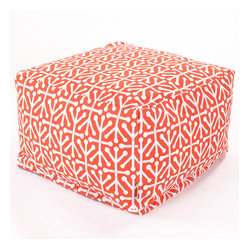 Outdoor Orange Aruba Large Ottoman
