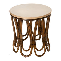 KOUBOO - Rattan Loop Side Table - Diameter 21 inches x 26 inches high.