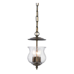 Crystorama - Crystorama Ascott Bowl Pendant Light in Antique Brass - Shown in picture: Traditional bell jar finished in Antique Brass.; Collins Collection traditional dual mount lantern offered in variety of finishes.
