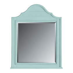 Stanley Furniture - Coastal Living Cottage Arch Top Mirror - Wood slats, curved moldings and inset beveled glass. Hard to believe it's brand new. Visible joinery adds cheeky interest. Made to order in America.