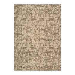"""Nourison - Nourison Nepal NEP09 5'3"""" x 7'5"""" Mocha Area Rug 15158 - This handsome rug has the wonderful textural appeal of an authentic native handcraft. The traditional Nepalese design has a lively, spontaneous feeling that is emphasized by a darker ground in a nubbly striated pattern. A tasteful palette in shades of mocha and caf� au lait make this a superb collectible."""