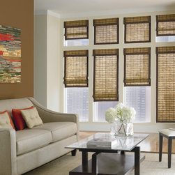 Bali Woven Wood Shades - Bali Woven Wood Shades Designer offers the most popular textures and colors of natural and bamboo blinds and shades for windows.