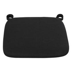 Delta Black Chair–Bar Stool Cushion - Our custom cushion in black features a contemporary box style.