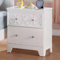 Coaster - Madeline Nightstand, White/Red/Orange/Blue - The Madeline youth collection will help you create a bright and airy look in the youth bedroom in your home. Colorful top panels against the matte white finish on each piece helps to create a fun space to sleep, play or relax. Spacious storage in each piece make this a functional group too, completed with simple silver knobs for a timeless style. For a fun space that everyone will love, add the Madeline youth collection to your home.