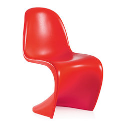 ZUO MODERN - Baby S Chair Red (set of 2) - Light weight and durable, the Baby S children's chair adds curves to any setting. Based on Zuo's S chair, the Baby S compliments all spaces in need of a glossy shine.