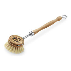 Dishwashing Brush - I have this dishwashing brush, and it's the best for scrubbing stubborn food off pots and pans without scratching. I also think it adds a farmhouse appeal to my kitchen sink — I actually store my brush in a vintage marmalade jar.