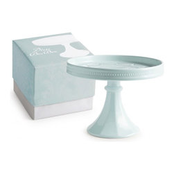 Rosanna - Decor Bon Bon Hue Large Rimmed Pedestal Blue By Rosanna - Showcase delectable desserts on our Decor Bon Bon Hue Large Rimmed Pedestal. These forms inspired by vintage American milk glass - -create an exquisite tables cape of compelling proportions. Use separately or stack them to form an elegant tower.