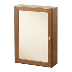 Wolf Bath - Heartland Oak Bathroom Medicine Cabinet - The Heartland Collection offers a traditional look for the bathroom, with pieces boasting decorative arch doors. Oak medicine cabinet with 1 mirrored door, and 2 interior adjustable shelves.